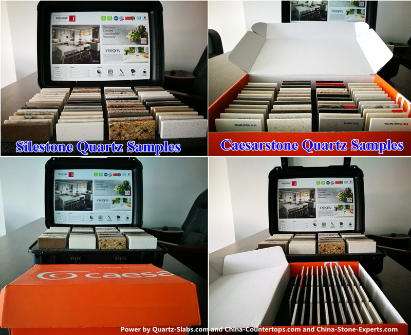 caesarstone quartz samples & Silestone quartz samples.jpg